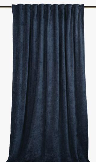 Carlo chenille gardin blå