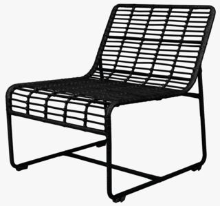 Liana loungestol svart