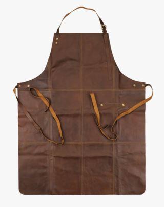 Bjørn Leather förkläde brun