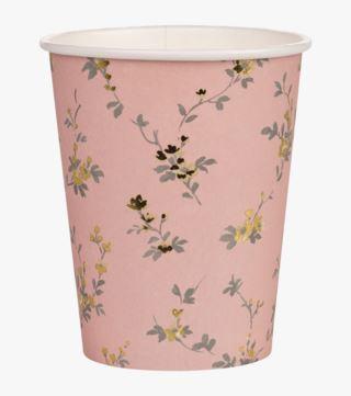 Beatrix pappersmugg 8pk rosa