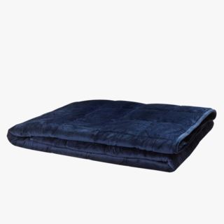 Cura Minky vikt filt blå